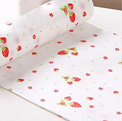300cm Cute Polka Dots Shelf Contact Paper Cabinet Kitchen Table Mat+Red point