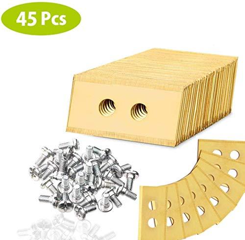 45x Messer Klingen für Worx Landroid, Titan Ersatzklinge mit 90 Schrauben, Langlebigkeit - Mäh-Roboter Ersatzmesser Ersatzteile Zubehör