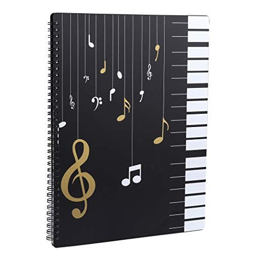 Raccoglitore Porta Spartiti Musicali Cartelle Portaspartiti per Fogli Formato A4 clef Scrivibile Borsa porta Documenti Musicale Per Suonatori di
