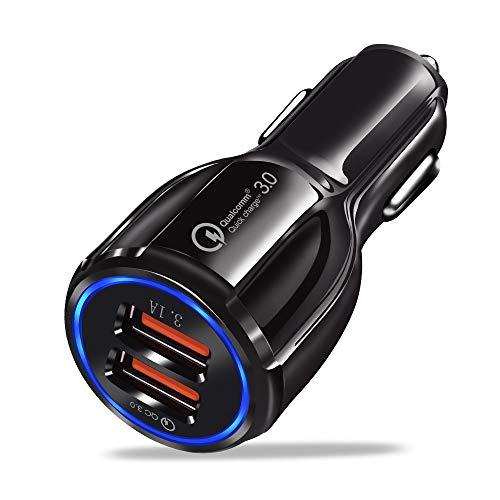OUYAWEI Caricabatterie da Auto Rapido QC3.0 Cavo di Ricarica Rapida per Samsung Xiaomi Huawei Sony Andro