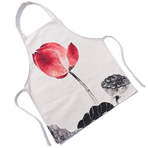 LnLyin Sleeveless Schürzen Lotus Home Kitchen Backschürze Kitchen Adult Kochschürze, Stil 6 -