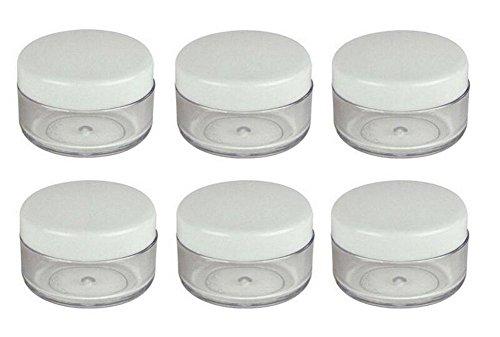 24 PCS 10g vide en plastique bocaux à cosmétiques avec bouchon à vis pour maquillage fard à paupières poudre de ongles paillettes Nail Art bijoux Lip-baume