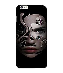 Crazymonk Premium Digital Printed 3D Back Cover For Apple I Phone 6 Plus