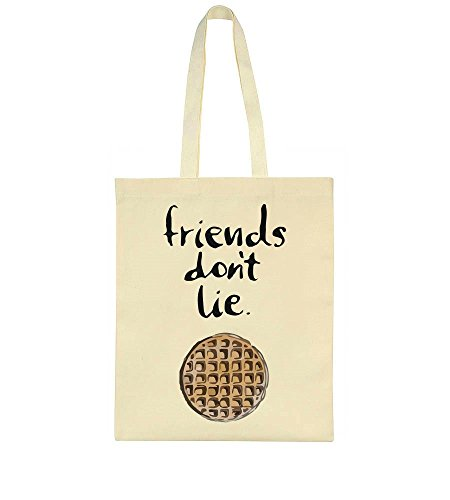 idcommerce Friends Don't Lie Minimal Waffle Design Tote Bag