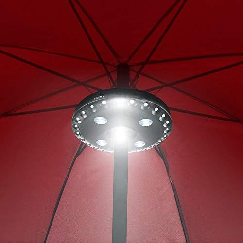 Sguan-wu Patio Umbrella Pole Light 28LED Jardín Exterior Patio Césped Noche Lámpara...
