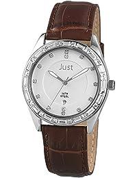 Just Watches Damen-Armbanduhr Analog Quarz Leder 48-S8262A-SL-BR