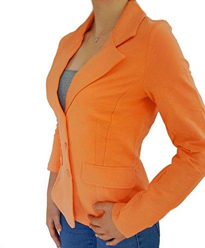 Rick Cardona Blazer Jerseyblazer Jacke Sommerfarbe Orange (38)