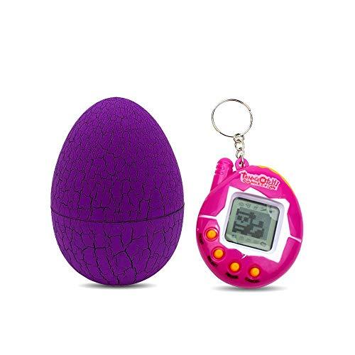 AOLVO Mehrfarbiges Ei, Mini Tamagotchi, elektronisch, Virtual Cyber Tiny Pet Toy Game Machine, Geburtstag, Urlaub, Weihnachten, Halloween, Thanksgiving Geschenk violett (Halloween Kinder Ei)