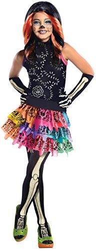 Generique - Skelita Calaveras Monster High-Kostüm für Mädchen 128/140 (8-10 ()