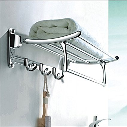 Fortune Stainless Steel Folding Towel Rack (24 inch) Pack of (1)