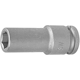 ASW 71058 Long Impact Socket, Silver, 3/8-Inch Hex 17 mm