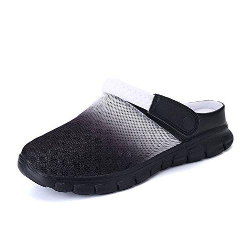 Zuecos Goma Verano Adulto Unisex, Zapatillas de Playa Piscina Sanitarios Enfermera de Trabajo Sandalias Negro Azul Blanco Rosso 36-46 Blanco 45