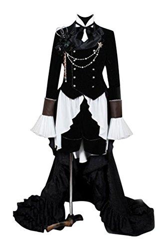Fuman Kuroshitsuji Black Butler Ciel Phantom Cosplay Kostüm Outfit Schwarz (Butler Black Kostüm Ciel)