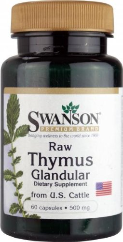 Swanson Raw Thymus Glandular from US Cattle (500mg, 60 Capsules) Test