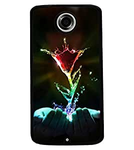 PrintVisa Back Cover for Motorola Nexus 6 (Multi-coloured)
