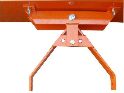 Schneeschild / Gekantet mit abschraubbarer Universal-Halterung / Orange / 200 x 40 cm / 3-stufig verstellbar / Für Einachser, Rasenmäher-Trecker