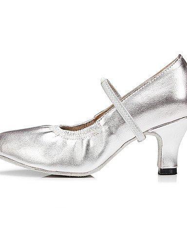 ShangYi Anpassbar - Absatz mit Schlag - Leder - Modern - Damen/Kinder Silver