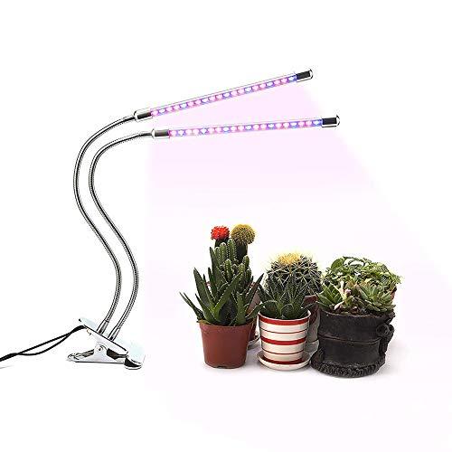 ZHEDAN Pflanzenlampe,Doppelkopf Pflanzenlicht,Wachstumslampe,3-Modi,9-Helligkeit,360Grad Verstellbares,mit Automatische Timer,für Zimmerpflanzen Blumen und Gemüse
