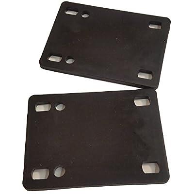 Schwarz Angel Skateboard Riser Pads (2Stück), schwarz, 1/10,2cm