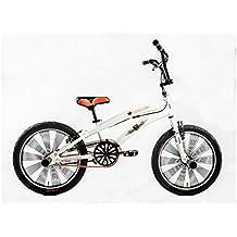 Bicicletta Bambino Ragazzo 20 Pollici Altec Freestyle BMX Freni V-Brake 85% Assemblata Bianco Arancione - 20 Ragazze Bmx Bicicletta