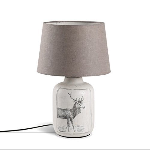 ALFYMX lámparas de Mesa LED lámpara de Mesa de cerámica Blanca ...