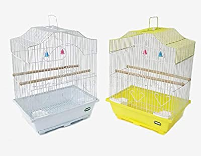 Heritage Cages 2112 Corfe Bird Cage Small Budgie Finch Canary 30 x 23 x 39cm Pet Home by Heritage Pet Products