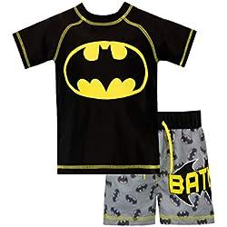 Batman Bañador de Dos Piezas para niño DC Comics Negro 3-4 Años