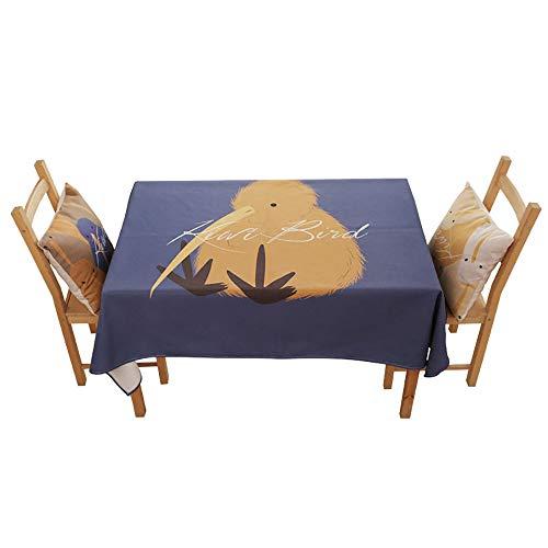 (Tischdecke Baumwolle/Leinen, Einfache Tischdecke Stoff Nordic Tischdecke Rechteckige Wohnzimmer Zu Hause Tischdecke Couchtisch,A-140 * 190cm)