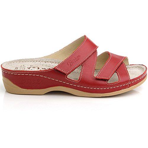0f7e848dbe7a Batz Eni High Quality Leather Womens Ladies Slip-On Sandals Clogs