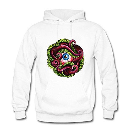 Women Cartoon Ocean Octopus Printing Sweatshirt Casual Hooded Pullover D