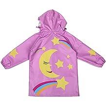 Giacche Impermeabile Bambino Cappotto di Pioggia Outwear Impermeabile con Cappuccio 90-145cm