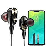 PTron Boom 2 Headphone 4D Deep Bass Stereo Earphone Dual Driver Sport Wired