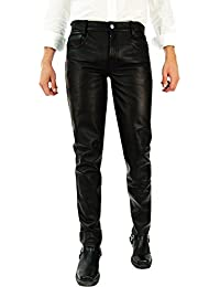 Tschul ® Only Leather mit Lederinnenfutter schwarz Lederhose Lederjeans