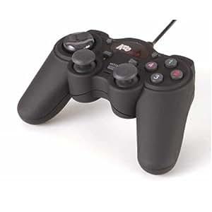 KOO Interactive - PC Manette Analogique Vibrante USB - 12 Boutons - Noire