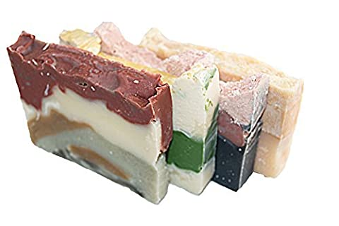Forrest Soap Bar Set (4 Guest Bars)- Soaps With Earthy, And Raw Experience. Himalayan Pink Salt, Brazilian Mud, Bamboo Lilac And Bay Rum Soap Bars. Set Of 4 - 2 OZ Bar