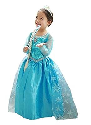ELSA & ANNA® Princesa Disfraz Traje Parte Las Niñas Vestido (Girls Princess Fancy Dress) ES-DRESS206-SEP por UK1stChoice-Zone