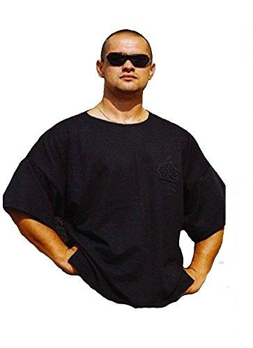 MORDEX BW T-Shirt fürs Gym, Fitness, Sport und Freizeit (schwarz, XL)