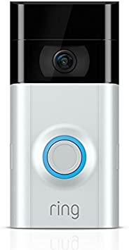 Ring Video Doorbell 2 - Quick Release Rechargable Battery Powered WiFi Doorbell Security Camera with Two way t