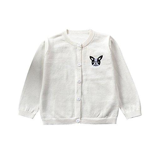 6 Meses-3 años Abrigo de bebé, niños niñas suéter de Punto Chaqueta de Punto Abrigo otoño Invierno...