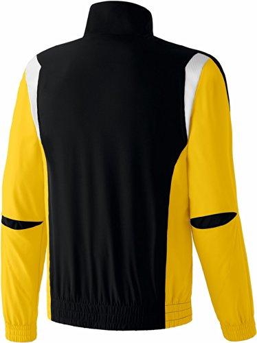 erima Erwachsene Anzug Premium One Präsentationsjacke Schwarz/Gelb/Weiß
