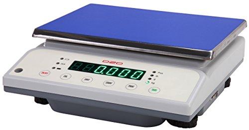 DZD DJ30K Digitale Tischwaage 1g bis 30kg mit großer Wägefläche, Netzbetrieb und Akku Digital Liquid Scale