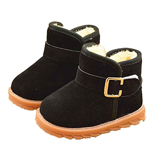 FEITONG Baby Winter Kind Mode Art Baumwoll Schuhe Stiefel Warmer Schnee Stiefel (5 ~ 6 Alter, Khaki) Schwarz-2