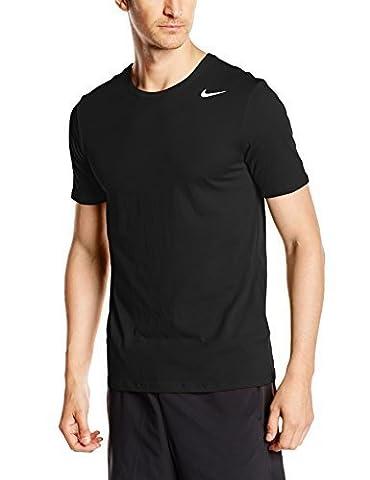 Nike Herren T-shirt Dri Fit Version 2.0, 706625-010, Schwarz (Black/White), Gr. S