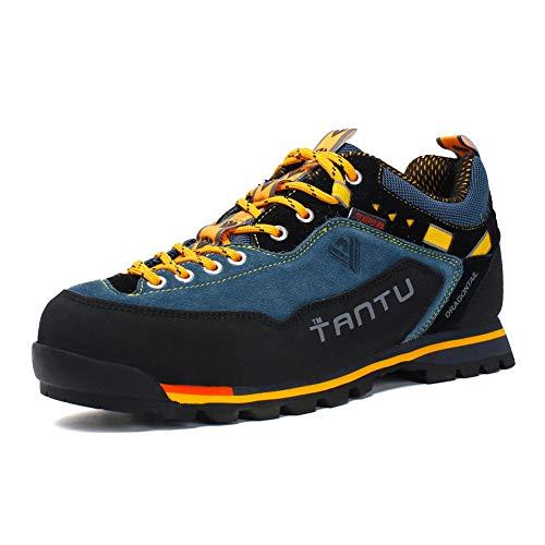 Scarpe da Trekking Uomo Respirabile Sportive Escursionismo Scarpe da Montagna Sneakers Passeggiata Giallo 43 EU
