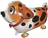 AirWalker, Folienballon 'Hund - gefleckt' orange, ca. 61 cm, ohne Gasfüllung