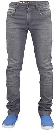 True face, jeans elasticizzati da uomo, in cotone grey wash w38