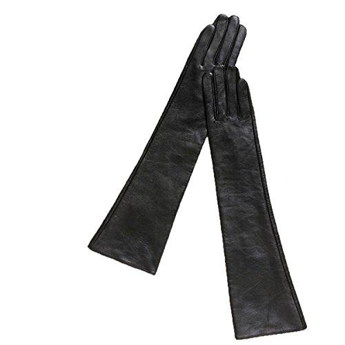 Ein-arm-laufwerk (GAYY 45Cm Lange Abschnitt Handschuhe Damen Arm Sets Laufwerk Warmhalten,Schwarz,Groß)