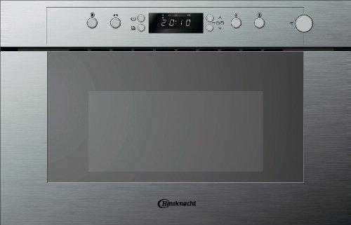 Bauknecht EMSP 9238 PT Einbau-Mikrowelle / 22 L / 750 W / Edelstahl / ProTouch/Easy Clean / Rapid Defrost / inkl. Dampfgarbehälter