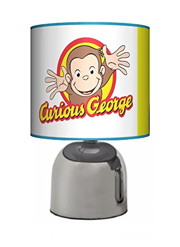 Image of CURIOUS GEORGE CHEEKY MONKEY - BEDSIDE TOUCH LAMP - BOYS / GIRLS BEDROOM LIGHT / LAMP SHADE - MAINS OPERATED (UK PLUG)