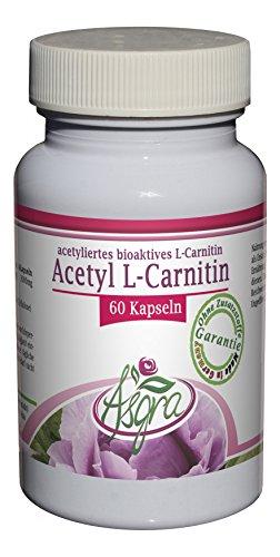 Asgra Acetyl L-Carnitin – pur ohne Zusätze – 500mg je Veggie Kapsel